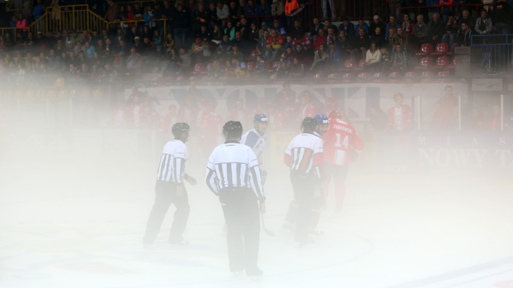 Mecz o Superpuchar Polski w hokeju na lodzie przerwany z powodu... mgły