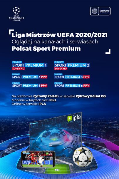Liga Mistrzów UEFA w Polsacie Sport Premium!